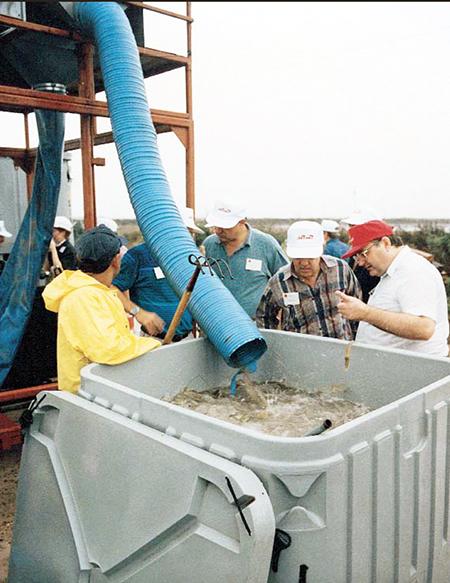 Mechanized shrimp harvesting