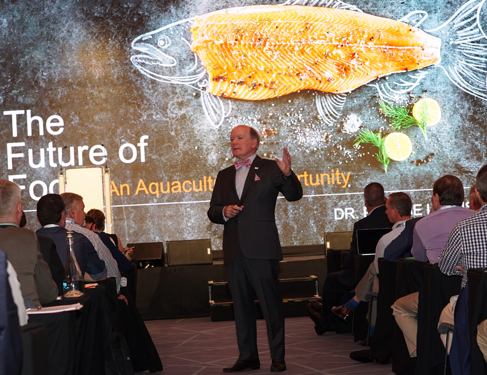 Dr. Pearse Lyons of Alltech was a keynote speaker at the Global Aquaculture Alliance's GOAL 2017 conference in Dublin, Ireland.