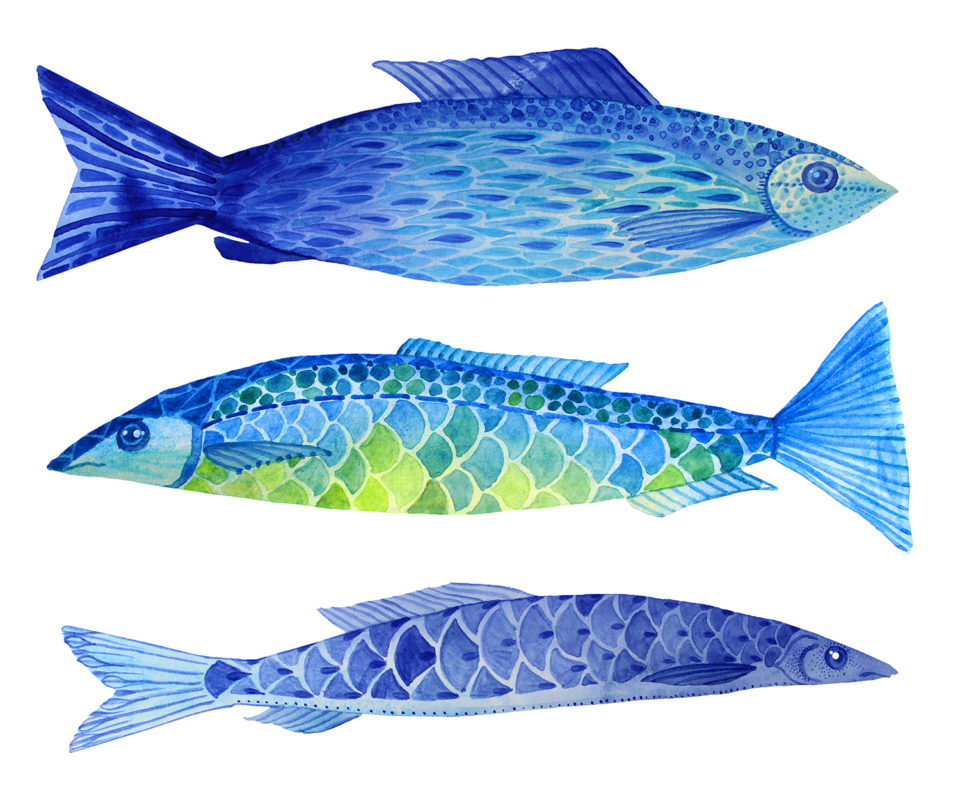 blue food