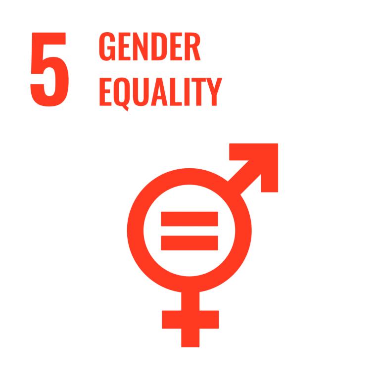 Infographic of SDG 5 - Gender Equality